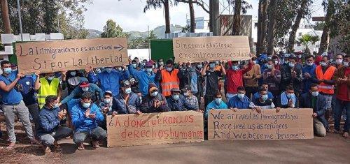 Foto: Asamblea de apoyo a migrantes en Tenerife