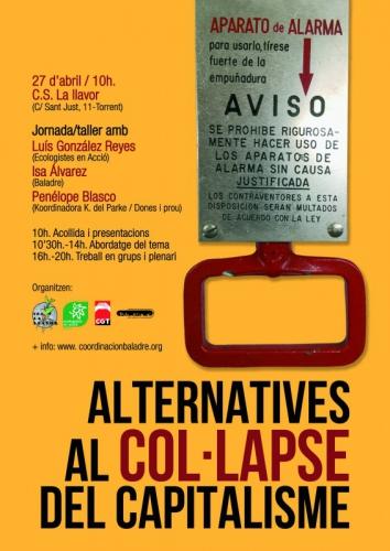 cartel encuentro Alternativas al colapso capitalista en el C.S La Llavor