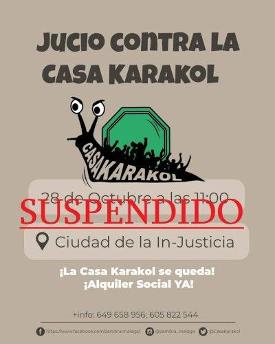 Cartel Suspendido juicio