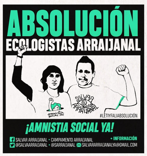 cartel Leti y Fali Absolución