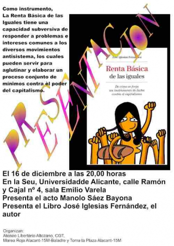Cartel presentación del libro