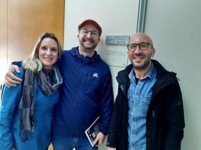 Nosotras con David Muñoz en su despacho en la universidad de Valencia
